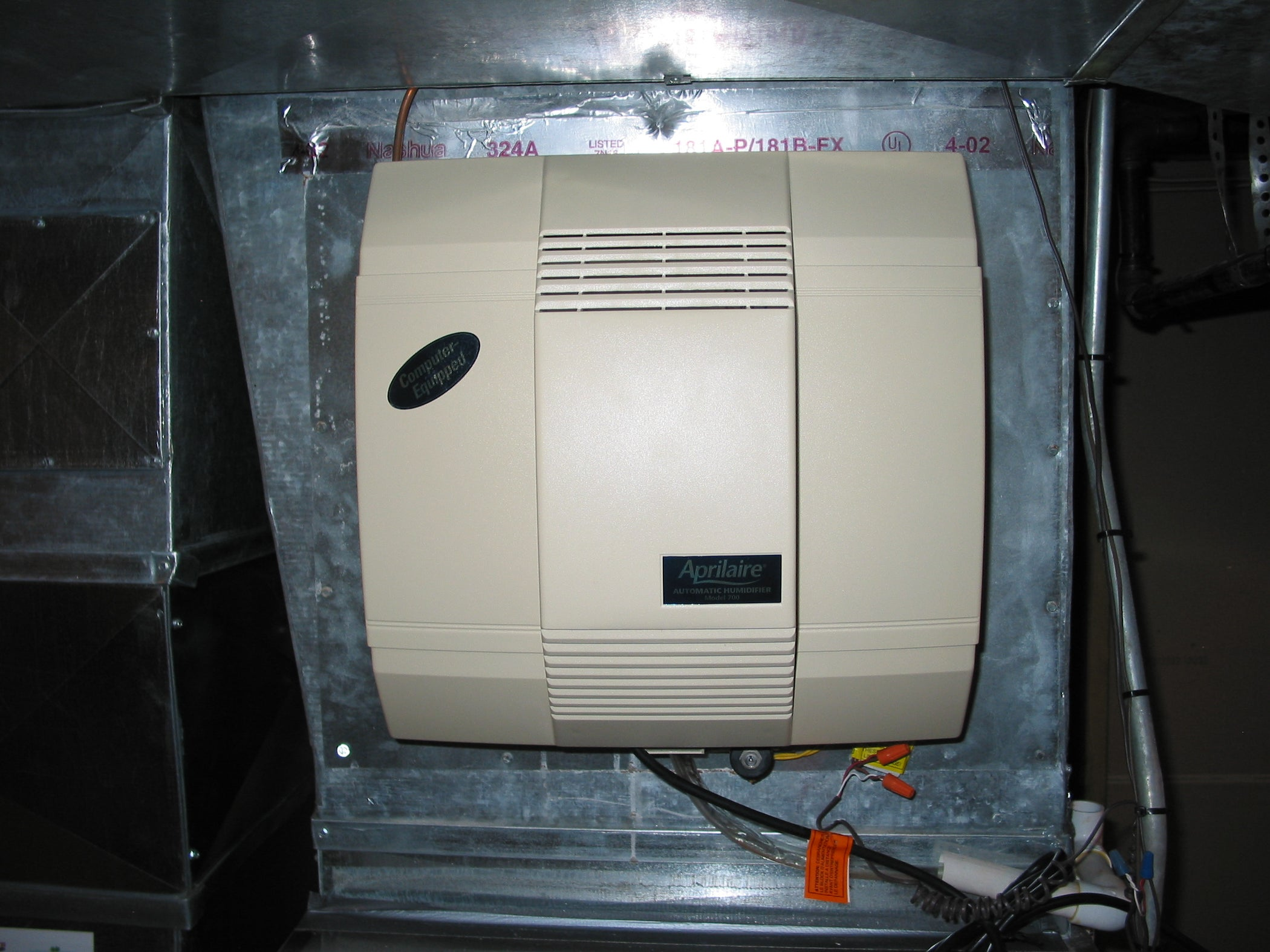 Troubleshoot And Repair A Furnace Mounted Humidifier 4 Steps Hot Water Heater Thermostat Wiring Besides Tank