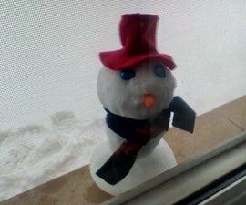 Mini Snowman in the Window