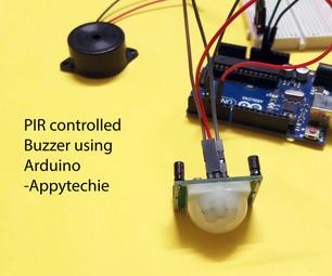 PIR Controlled Buzzer Using Arduino