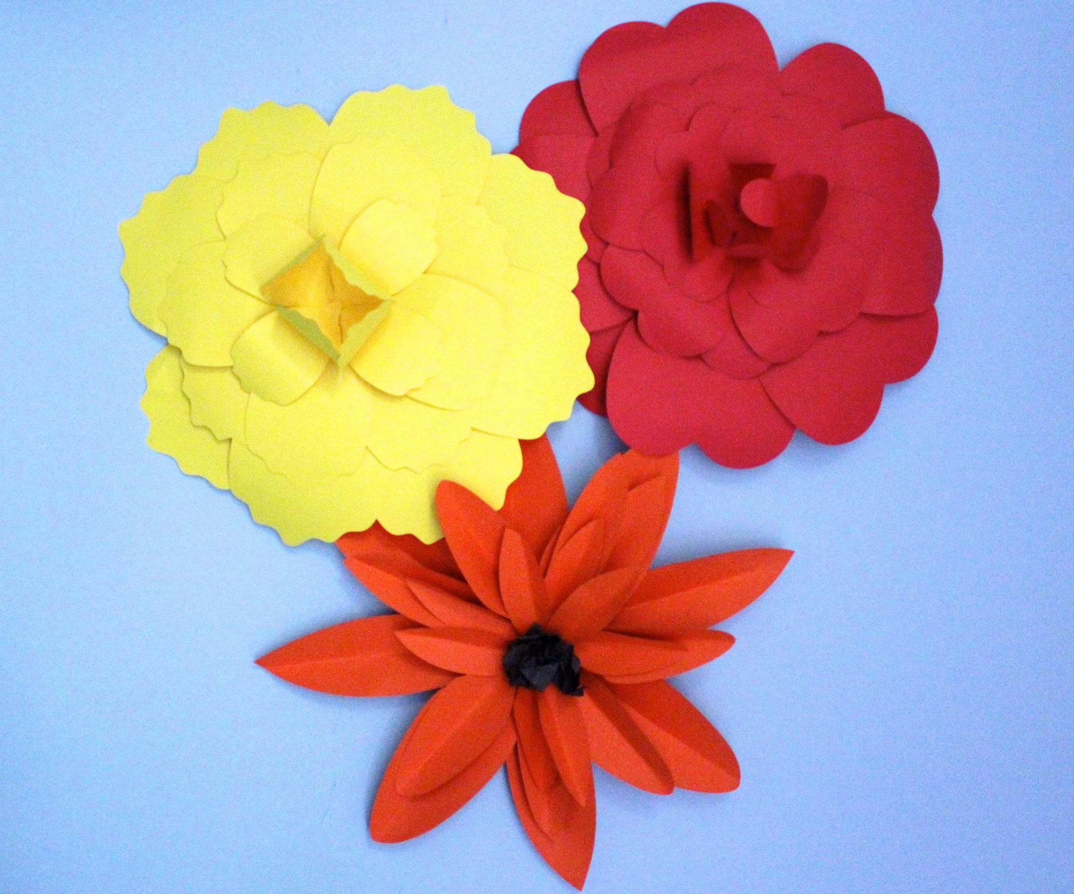 Giant paper flowers 9 steps with pictures mightylinksfo