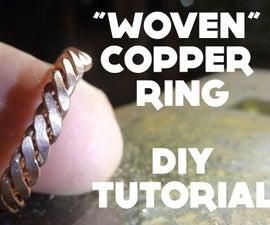 """Woven"" Copper Ring - DIY Tutorial"