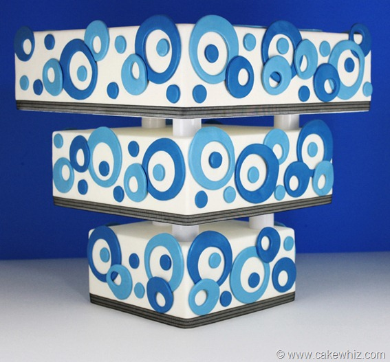 Picture of Upside Down Tiered Polka Dot Cake