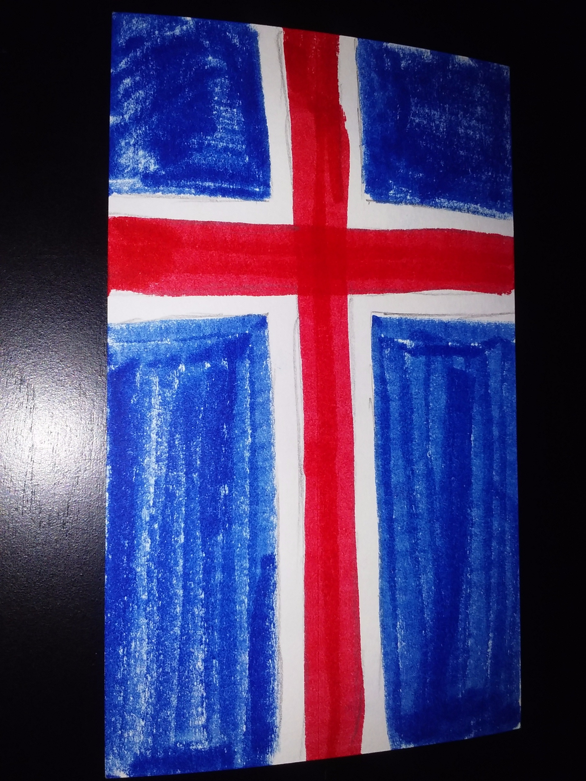Picture of DIY Flag Art: Iceland