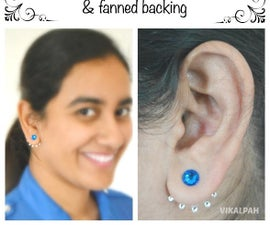 DIY Double Sided Earrings With Swarovski Crystal Post & Fanned Backing