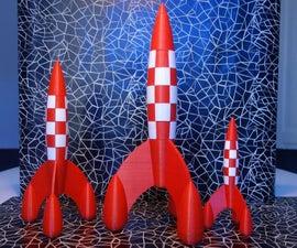 Tintin Rocket from Blueprint drawing