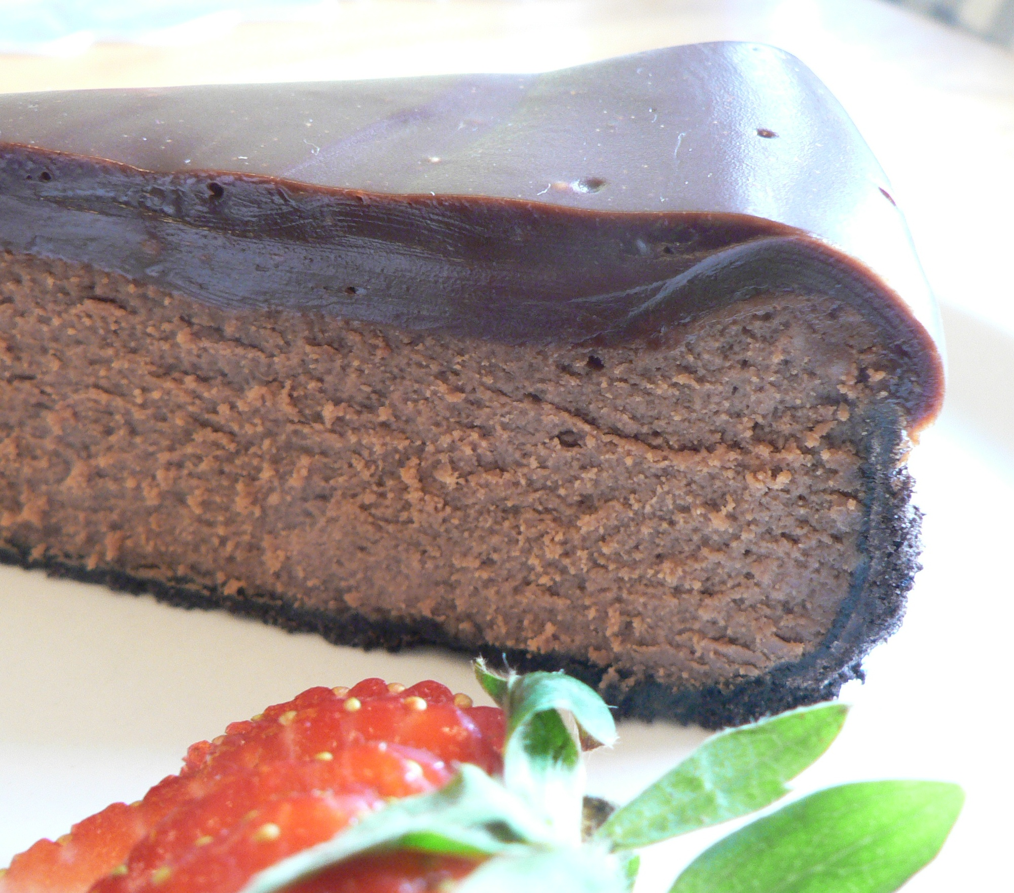 Picture of Double Chocolate Cheesecake With Chocolate Ganache