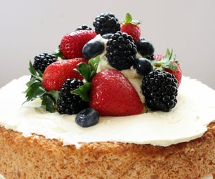 Coconut-Baiser Cake With Berries