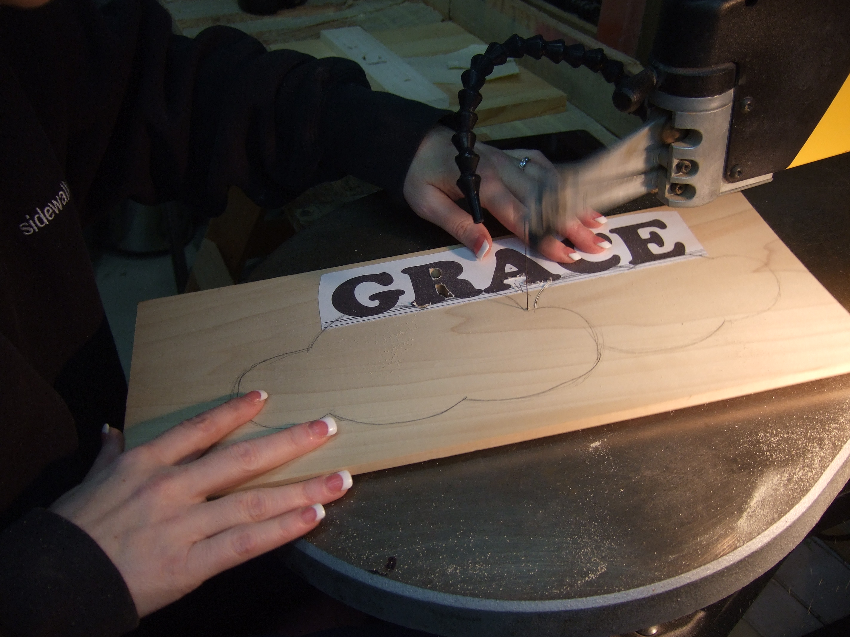 Picture of Cutting Out the Inside Spots