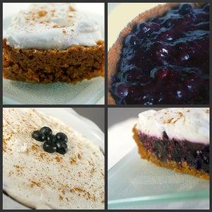 Cinnamon Spiked Blueberry Icebox Pie