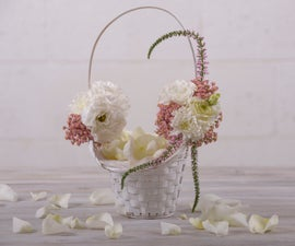 DIY Floral Wedding Basket