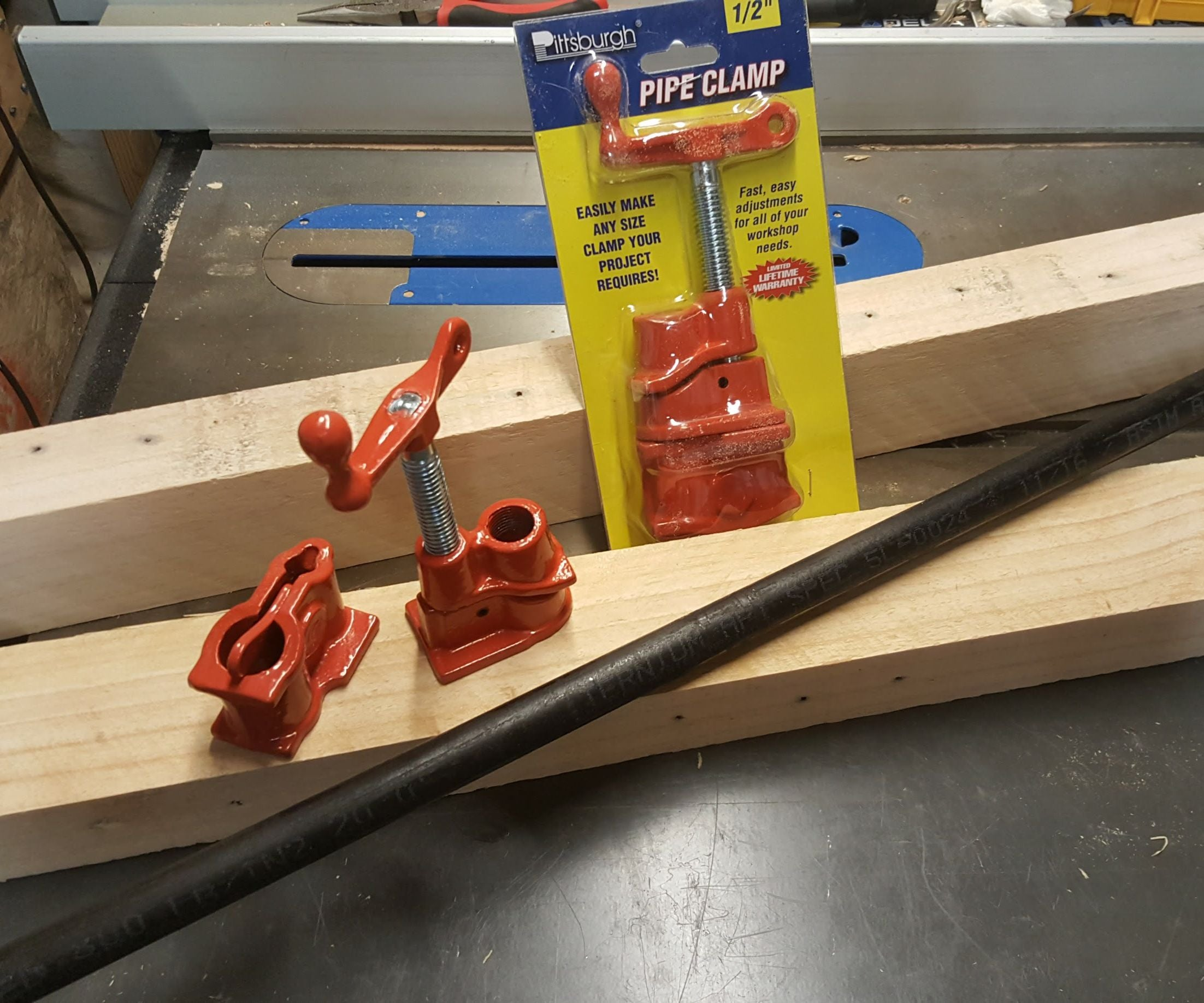 Pipe Clamp Bench Vise 6 Steps With Pictures Instructables