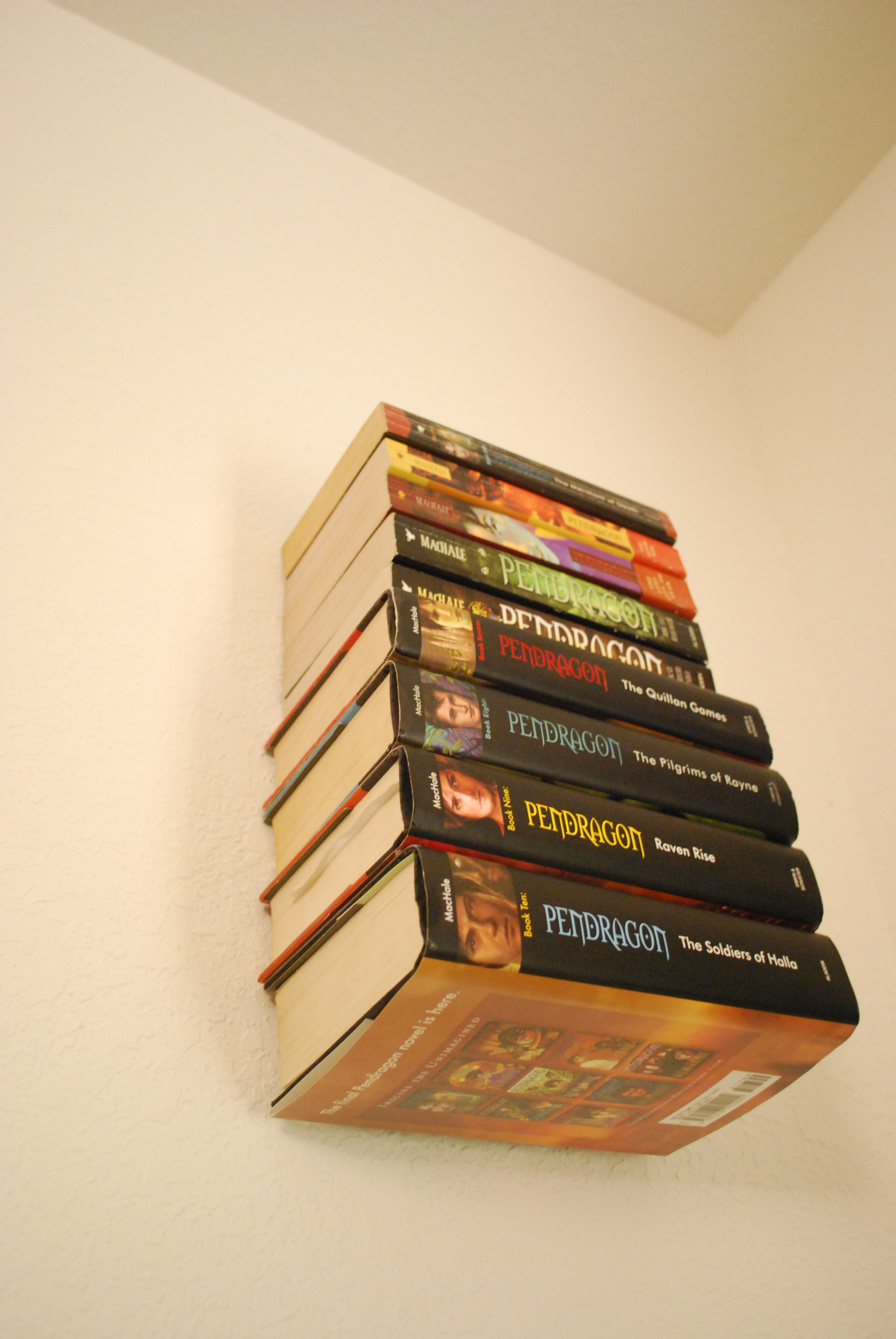 how to make an invisible bookshelf without ruining a book - Picture Of Book Shelf