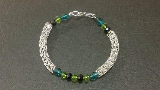 Beaded Viking Knit Bracelet Model 3