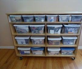 Rolling Bin Shelves