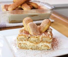 Eggless Tiramisu Cake | No Bake