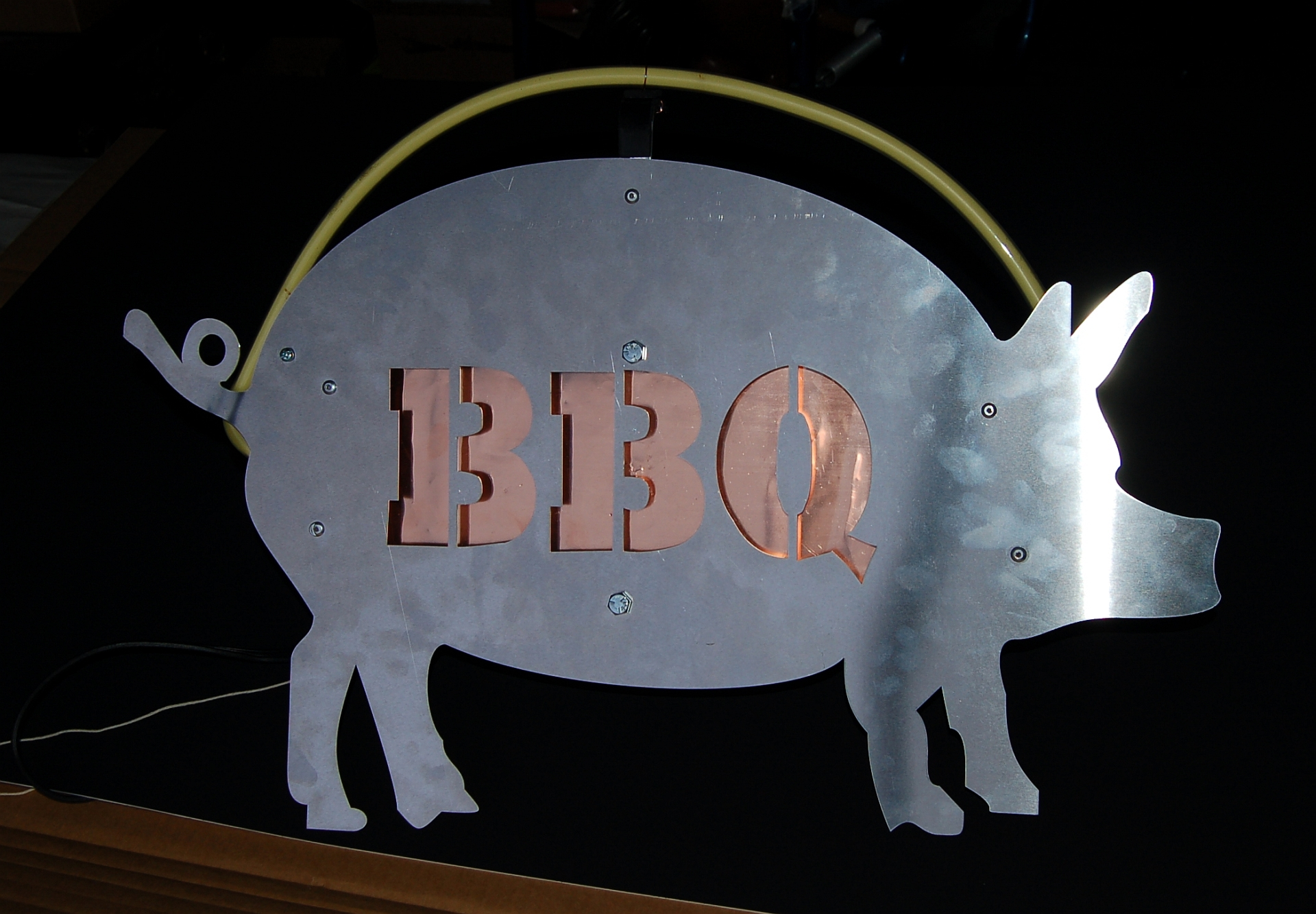 Picture of Neon Pig BBQ Sign