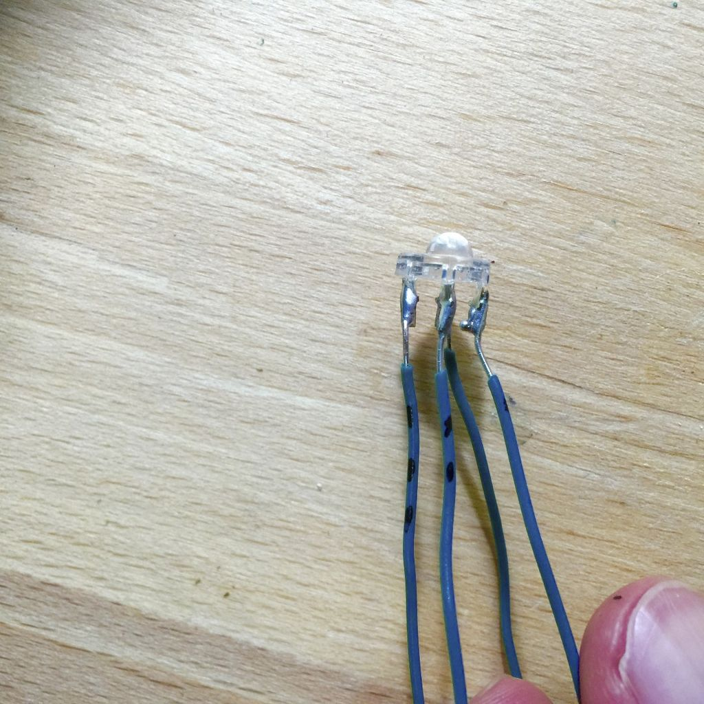 Picture of Solder Piranha LED Legs...