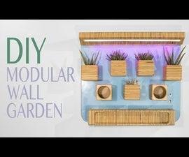 Modular Wall Garden From a Single Plywood Sheet