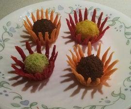 Chocolate Flower Truffles
