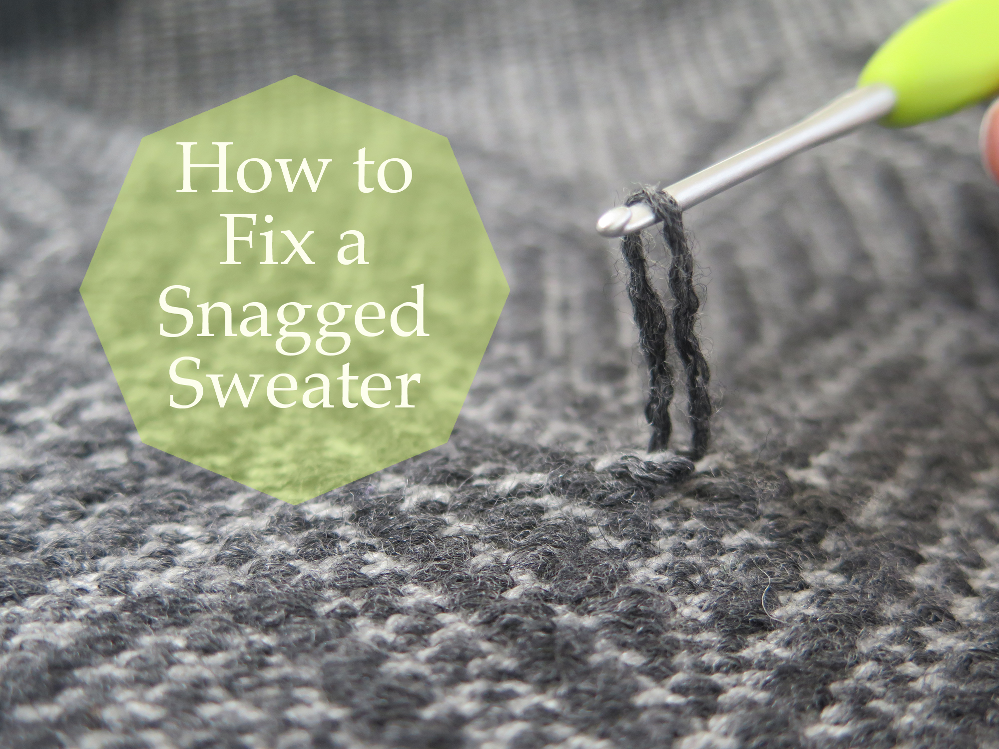 Picture of How to Fix a Snagged Sweater
