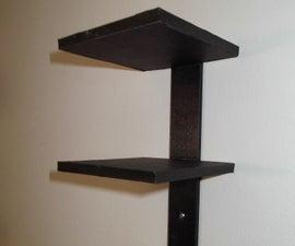Vertical Multiple Floating Shelves for Models
