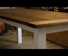 Farmhouse Dining Table - Walnut and Alder