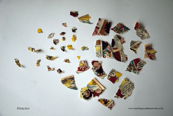 Picture of Start Gluing Your Pieces of Comic in Place