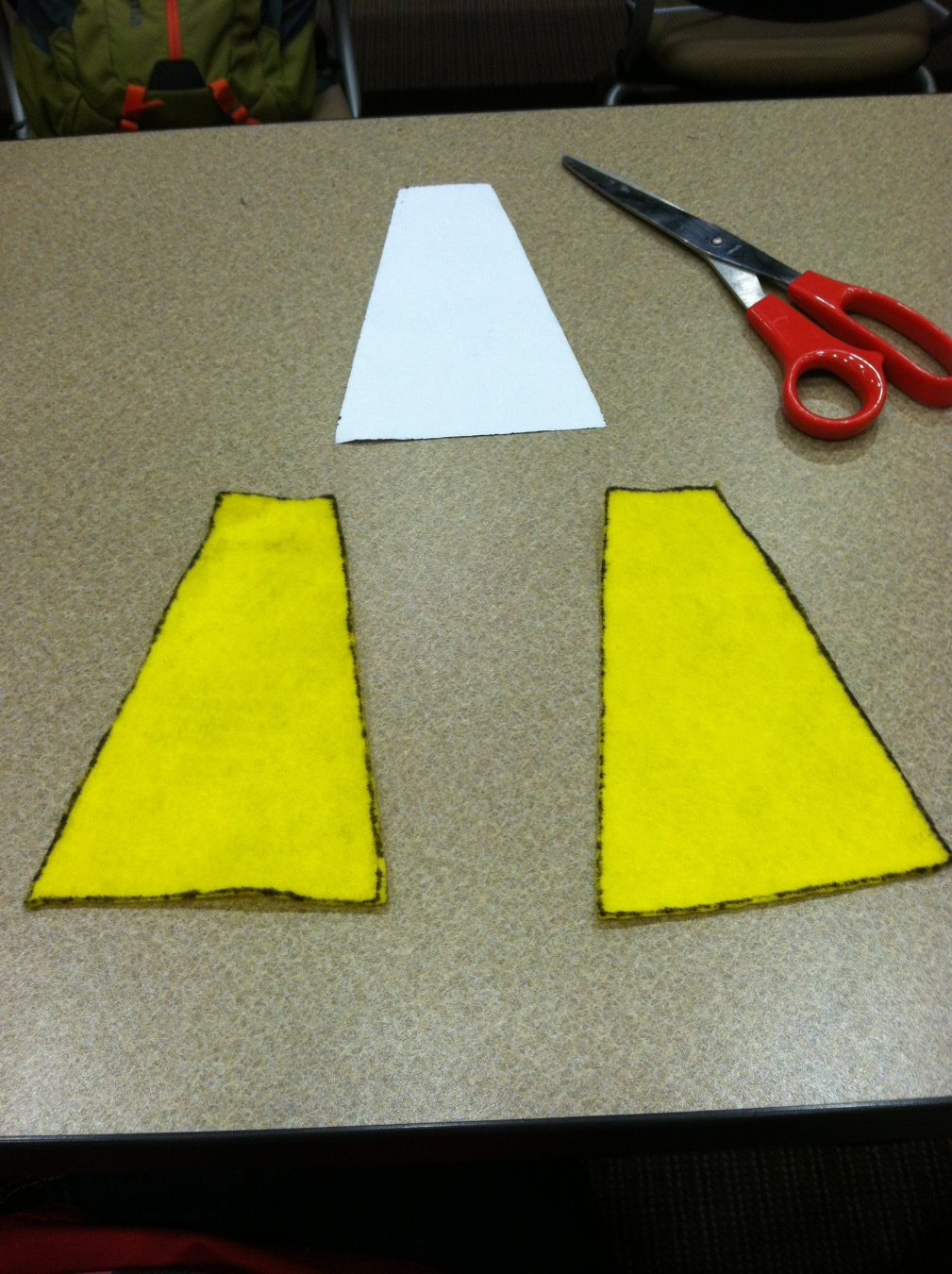 Picture of Cut the Pieces Out of the Felt.