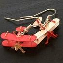 Biplane 3D Puzzle Earrings