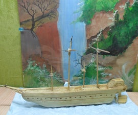 Wooden CARVED SHIP