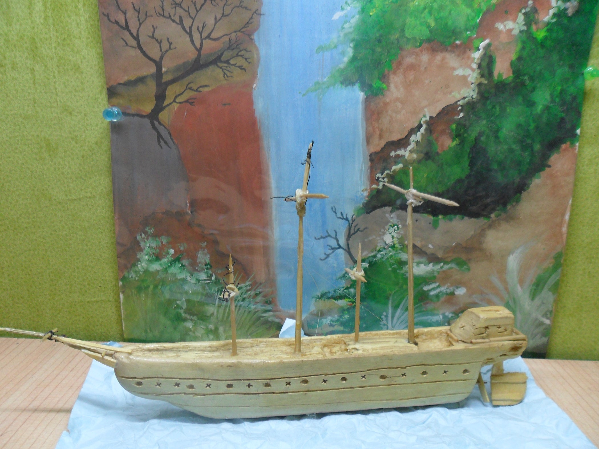 Wooden Carved Ship 7 Steps Sailing Diagram Tall Ships Pinterest
