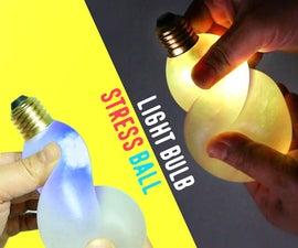 How to Make Glow Light Bulb Slime Stress Ball DIY !!