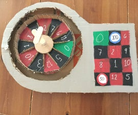 How to Make a Some What European Style Cardboard Roulette