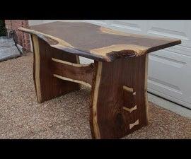 Walnut Slab Farm House Dining Table