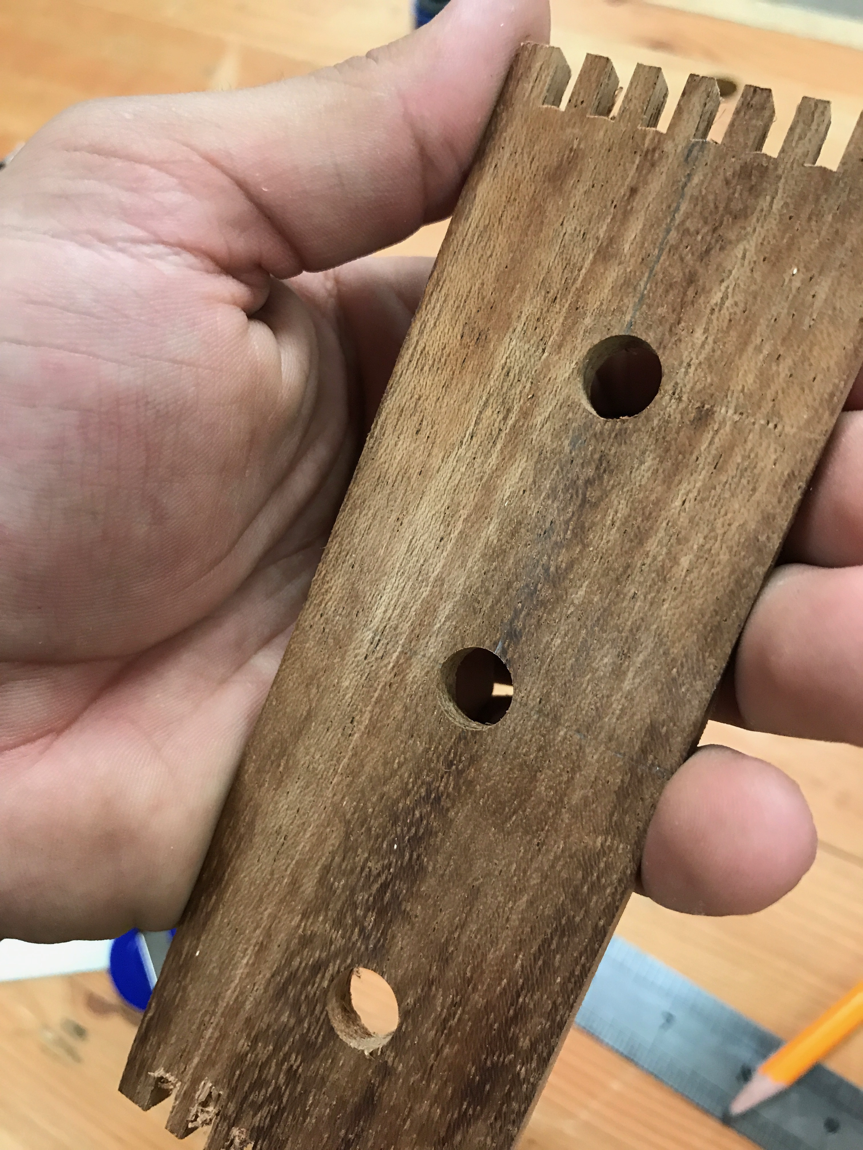 Picture of Drill Holes and Insert Connectors