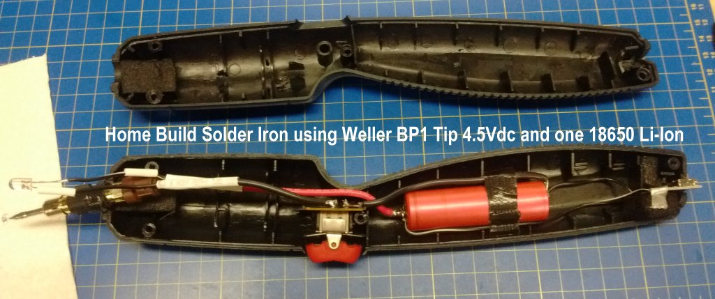 Picture of User Constructed Lithium Battery Powered Soldering Iron