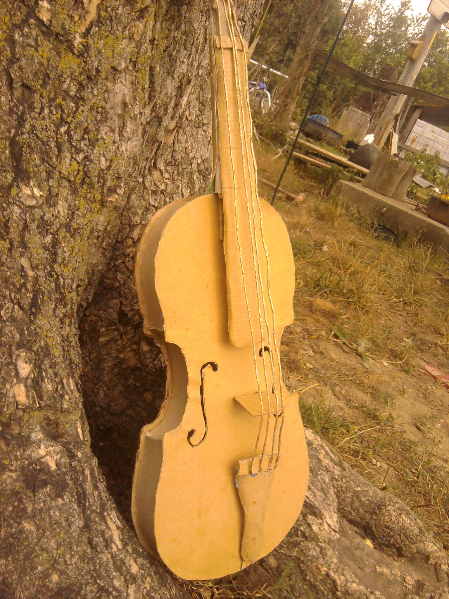 Card Board Violin (with Pictures)