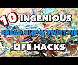 10 Ingenious Bread Clip and Twist Tie Life Hacks