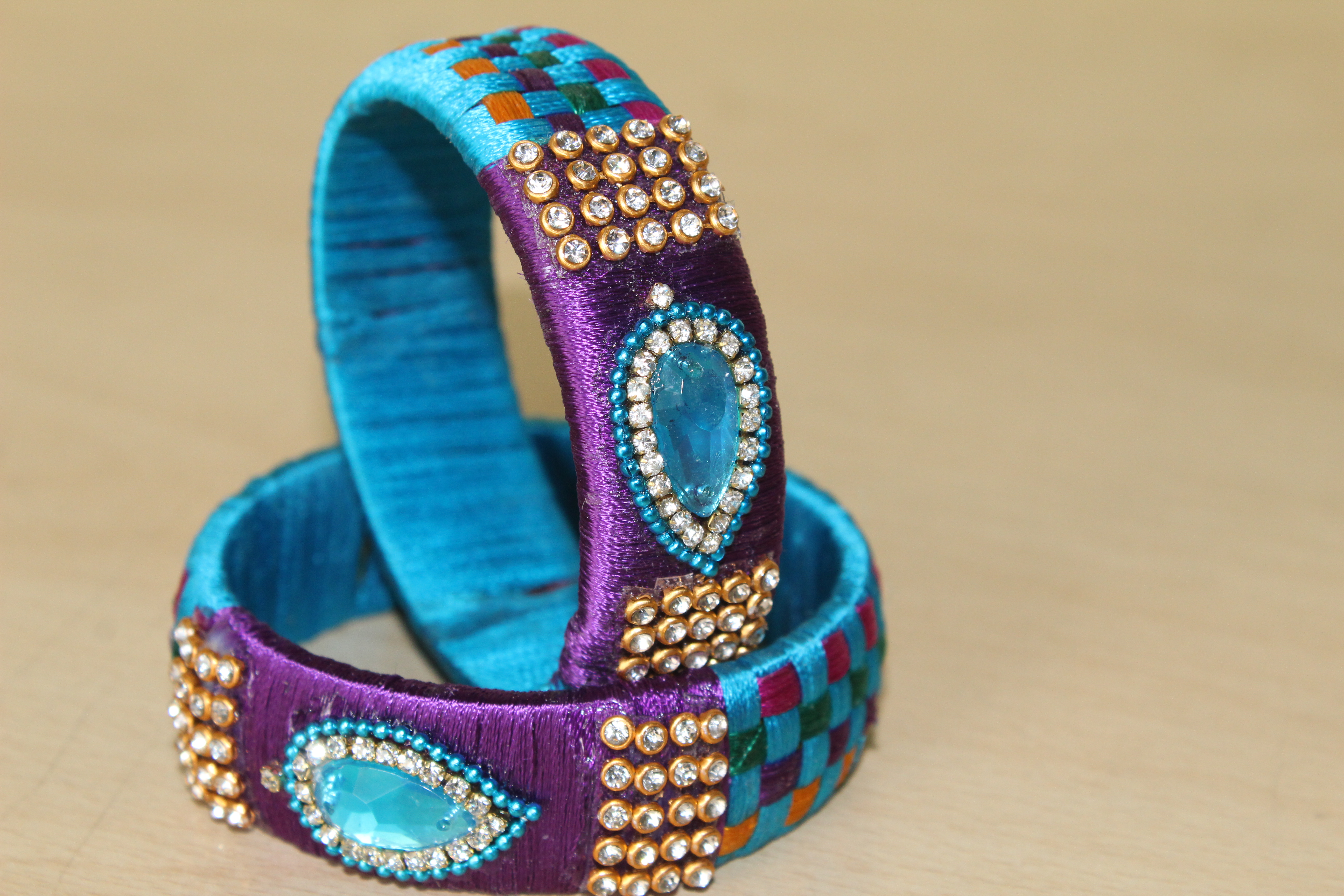 Picture of Finally Jewellery Silk Thread Bangle Is Done