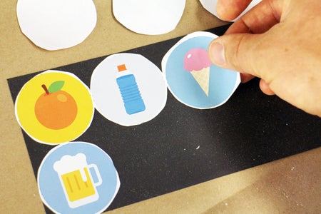 Glue Pieces to Sheet