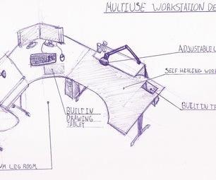 Multi Use Workstation Desk