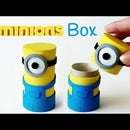 DIY crafts: MINIONS BOX from cardboard tube