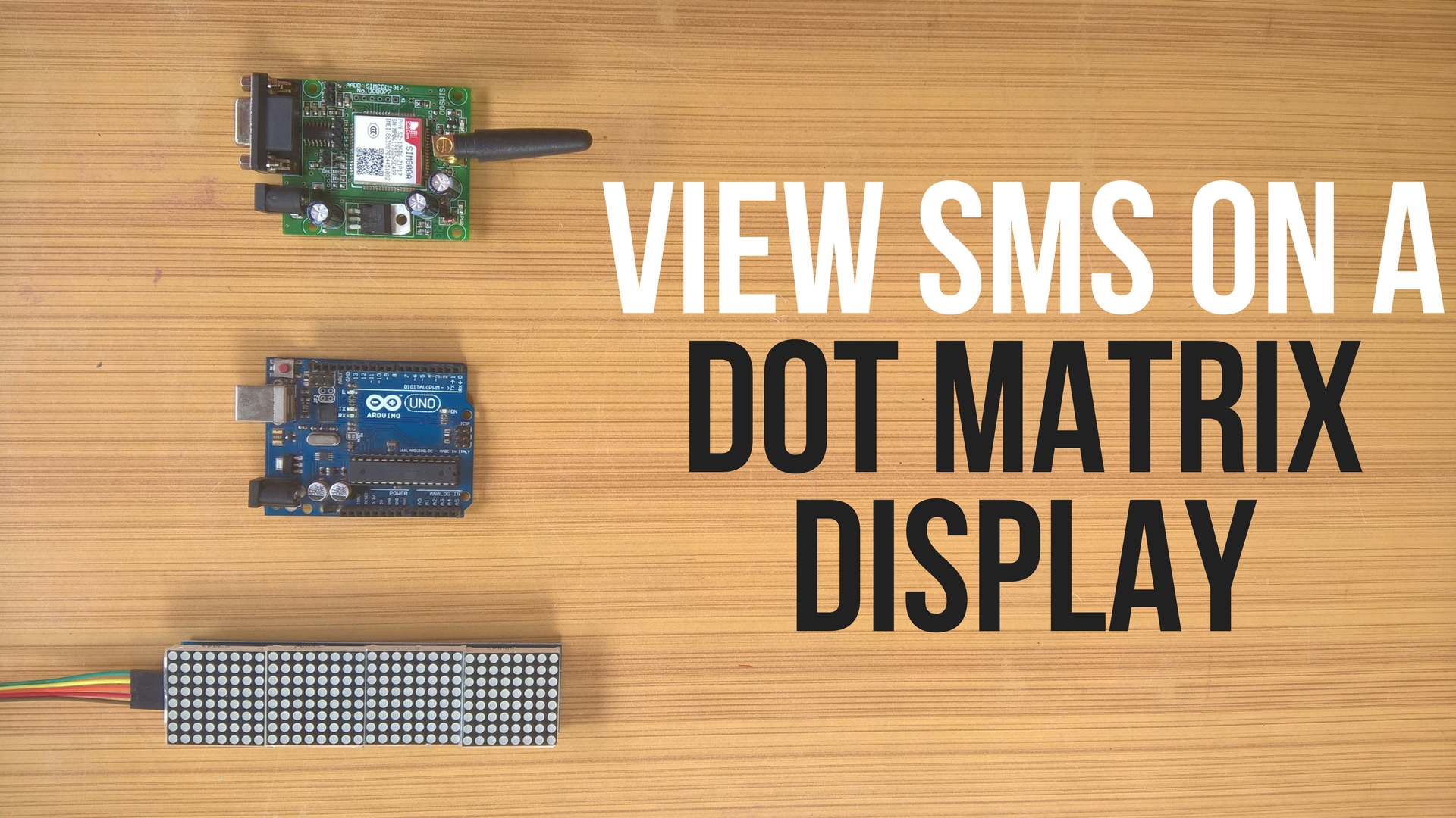 Picture of SMS Monitor || Dot Matrix Display || MAX7219 || SIM800L