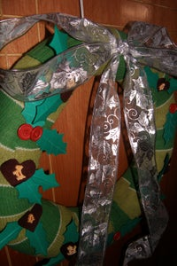 Wreath: Christmas Sweater Conversion Part II