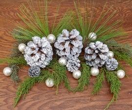 Shimmery, Glittery Silver Pine Cone DIY