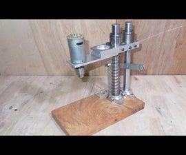 Homemade Mini Press Drill DIY Micro PCB Driller