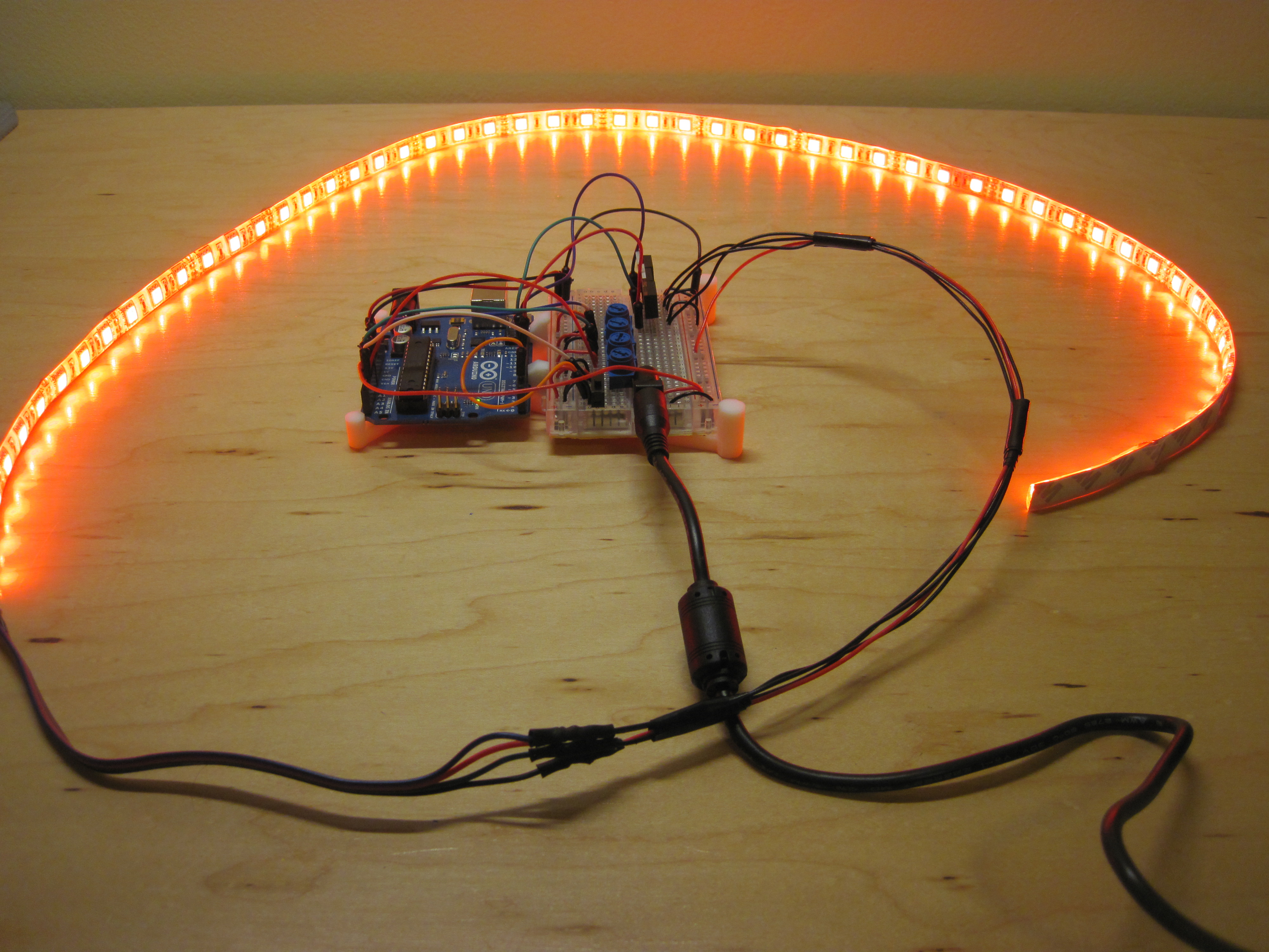 Picture of Testing Your Circuit, Code, and LED Strip
