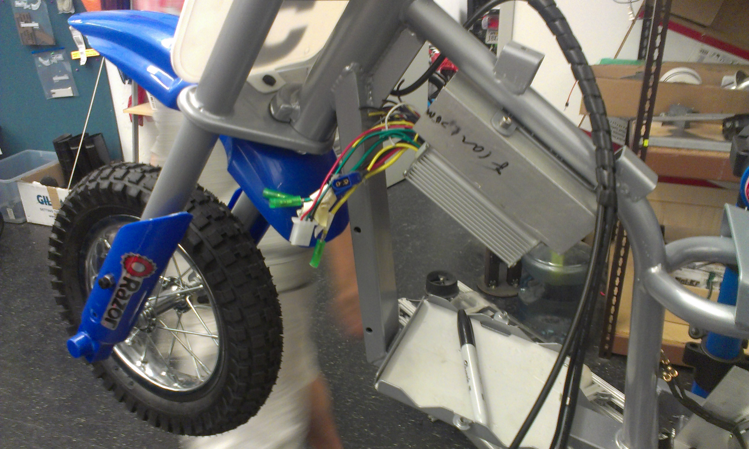 Picture of Mounting Motor Controller and Batteries