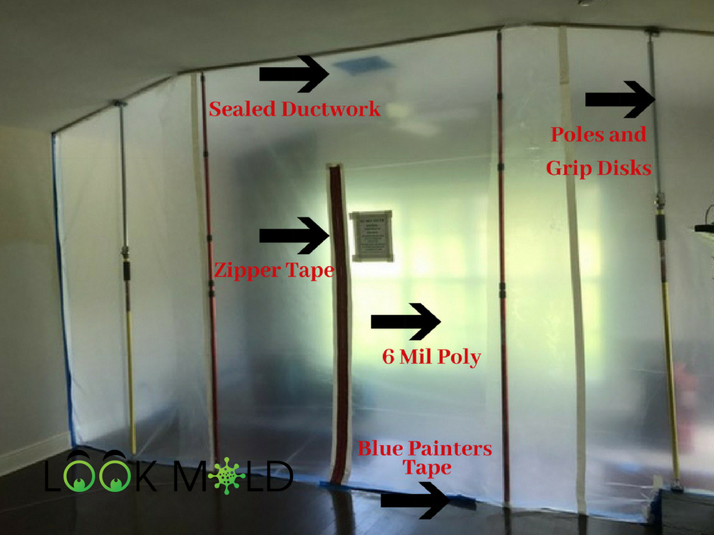 Picture of Mold Removal Containment Barrier