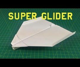 How to Make a Paper Plane That Flies FAR | Super Glider
